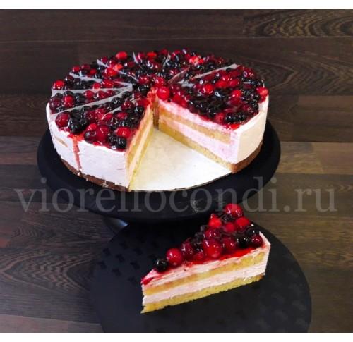 торт Шерри лесные ягоды низкокалорийный порционный, замороженный