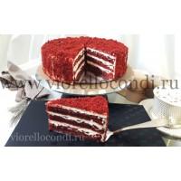торт РЕД ВИЛВЕТ  красный бархат   вес 1.85  порций 14