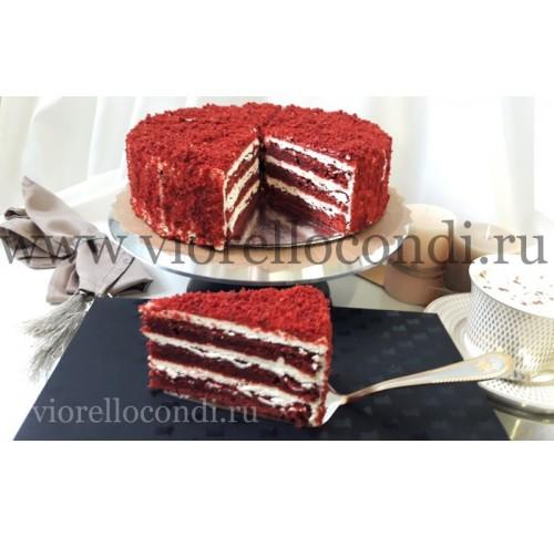 торт красный бархат Ред вильвет замороженный,порционный